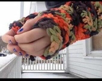 Easy Breezy Chunky Fingerless gloves PATTERN ONLY
