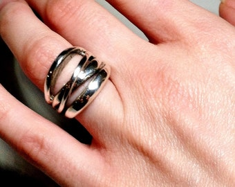 hand crafted silver ring size 6 1/4 12 grams