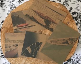 Canoe postcards // canoe theme // postcard // 4x6 // canoe postcard // postcards