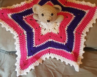 Crochet Rattle teddy lovie