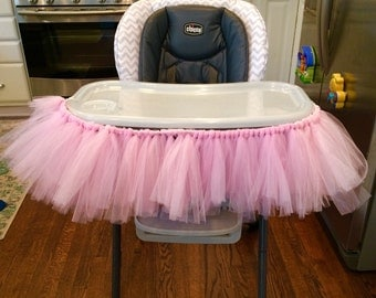 High Chair Tutu/ Birthday High Chair Tutu