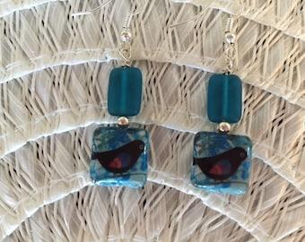 Happy bird earrings
