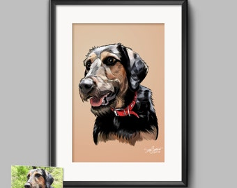 Custom Pet Portraits, Pet Illustration, Dog Illustration, Cat Illustration, Pet Print