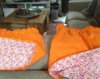 reversible, double sided Orange skirt