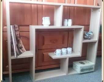 Bookshelf, Handcrafted Home Furniture, Wall Stand,  Small Sectio