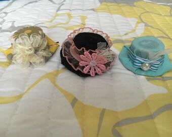 Mini Hat Hair Pins