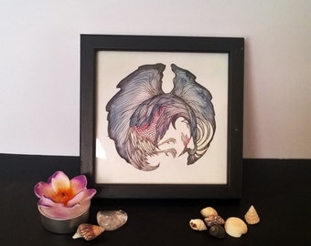 Framed Crowned Crane art print