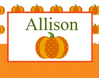 Halloween Pumpkins Personalized Placemats