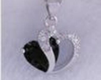 Split Heart Jewel Necklace