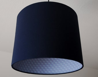 Lampshade Baroque-blue (navy)