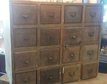 Former furniture trades, storage 16 drawer