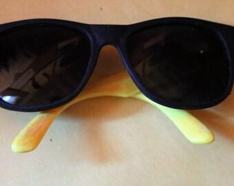 Vintage Rubber Framed Sunglasses, Classic 1980's