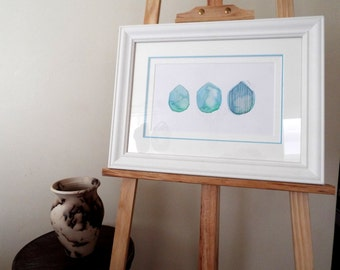 Ocean Peaks - Original Artwork Framed