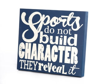 Small Wall Art Panels - Sports Reveal Character