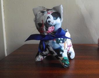 Blue Bow Kitty Cat!