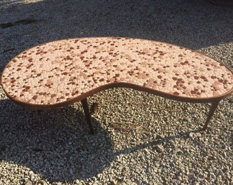 Tiled Kidney Bean Coffee Table