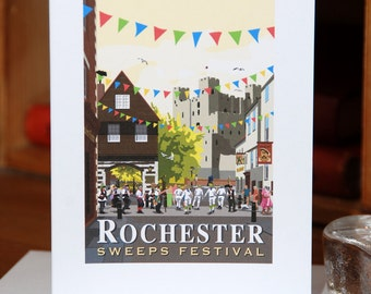 Greetings Card of the Sweeps Festival in Rochester, Kent (Card ID: WOS136)