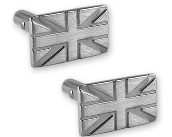 Sterling silver Union Jack cufflinks NEW