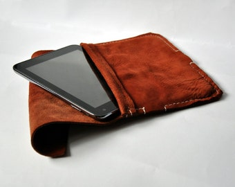 Genuine Leather Tablet Case - Hand stitched