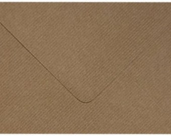 100 Premium Brown Ribbed Kraft Envelopes by Mad as a Crafter (Various sizes)