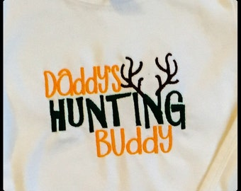 Embroidered Hunting Buddy Onesie