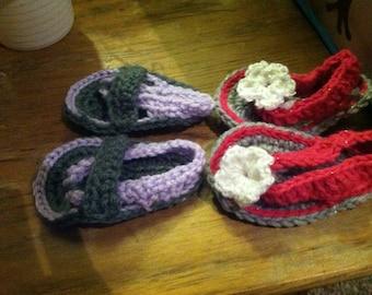 Crocheted Infant Sandals