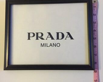 Framed Prada Milano bag upcycled
