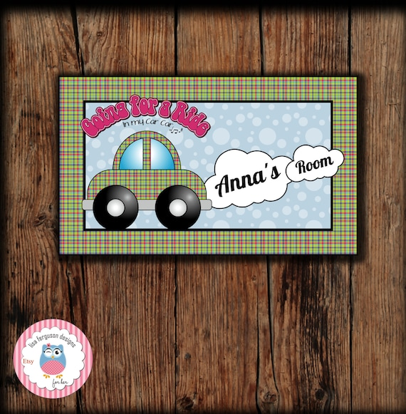 Personalized Toy Car Bedroom Door Sign For Kids