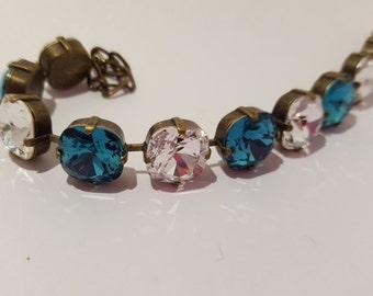 Blue Zircon Swarovski Crystal bracelet