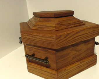 small coffin casket