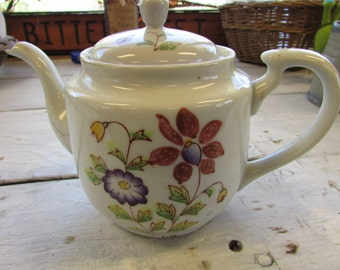 Occupied Japan Teapot, Teapot with Flowers, Teapot Made in Occupied Japan
