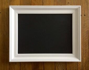 White Painted Upcycled Chalkboard Blackboard