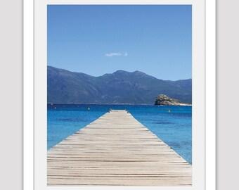 Ocean Photo,  Mountain Photo, Ocean Art, Ocean Poster, Pier Poster, Beach Photography, California Photo, Summer Decor, Mountain Image