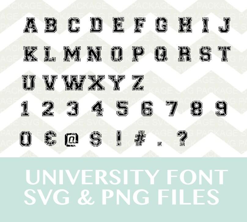varsity letters font