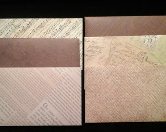 VINTAGE INSPIRED 4 1/2 X 6 1/2 ENVELOPES