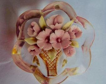 Vintage Brooch, Vintage Lucite Brooch, Vintage Jewellery, 1940's Brooch, Vintage Pin, Floral Lucite Brooch, Flower Brooch, Vintage Jewelry