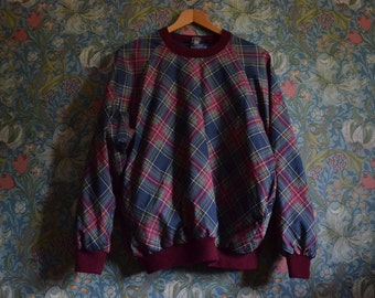 Vintage Sunderland of Scotland 100% waterproof plaid jumper