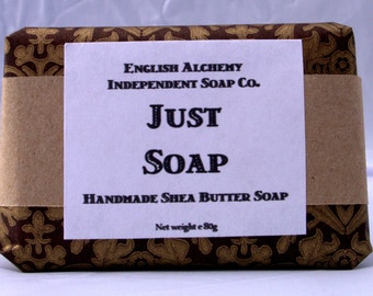 Just Soap - handmade Shea Butter soap - completely free from fragrance, colour or other additives - PALM FREE