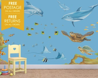 Sealife Wall Decals / Stickers Mural