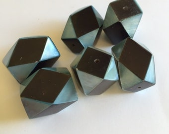 Geometric Shell and Resin Beads  20mmX15mm