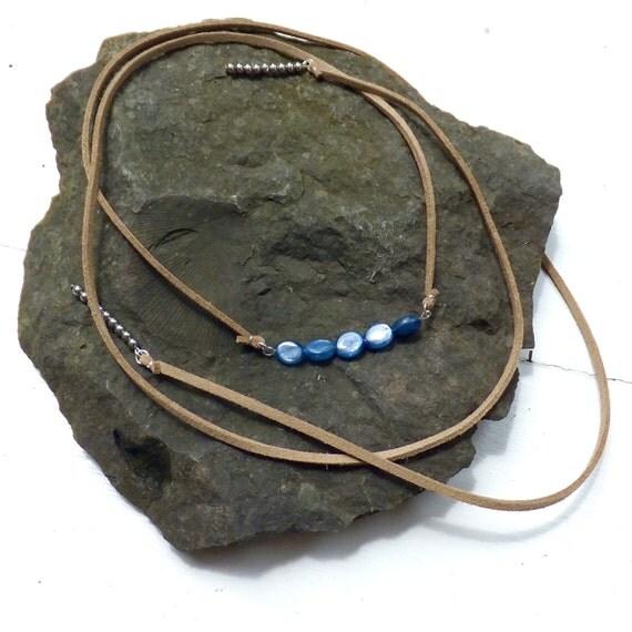 Kyanite // Hematite Wrap Necklace