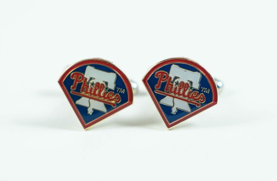 Philadelphia Phillies Cuff Links -- FREE SHIPPING with USPS First Class Domestic Mail