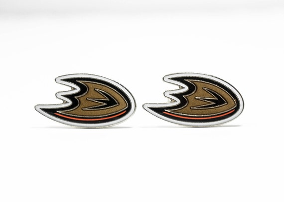 Anaheim Ducks Cuff Links -- FREE SHIPPING with USPS First Class Domestic Mail