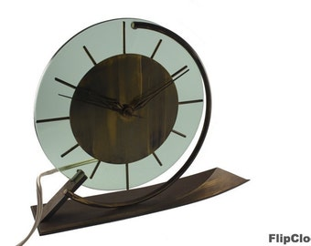 Stunning Art Deco Palmtag table clock from the fifties!