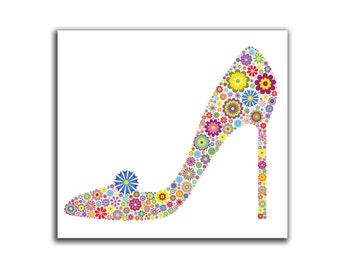Flower High Heel HD Canvas