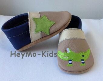 Leathershoes, Baybyshoes, Lu shoes, soft leather crocodile