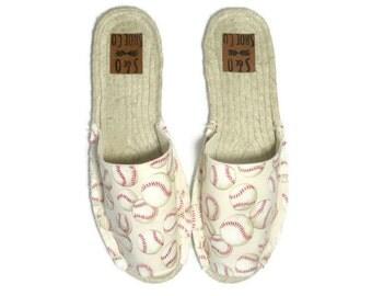 Womens baseball espadrille sandals - baseball shoes - baseball sandals - womens shoes - womens sandals - womens espadrilles - monogram