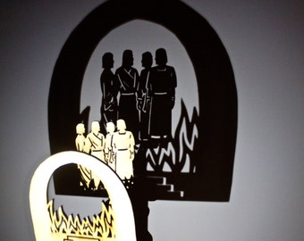 Shadrach, Meshach & Abednego 7 Piece Shadow Puppet Set, Scripture Shadows, Puppet Theater, Bible Stories, Shadow Puppets, Kid Gifts, Puppets