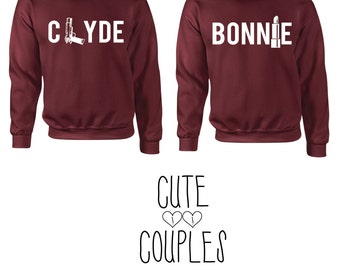 Bonnie & Clyde couple hoddie sweater friends