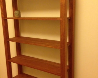 African Mahogany Bookshelf